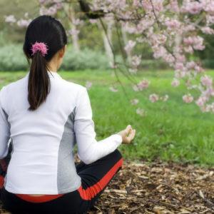 Yoga under a tree