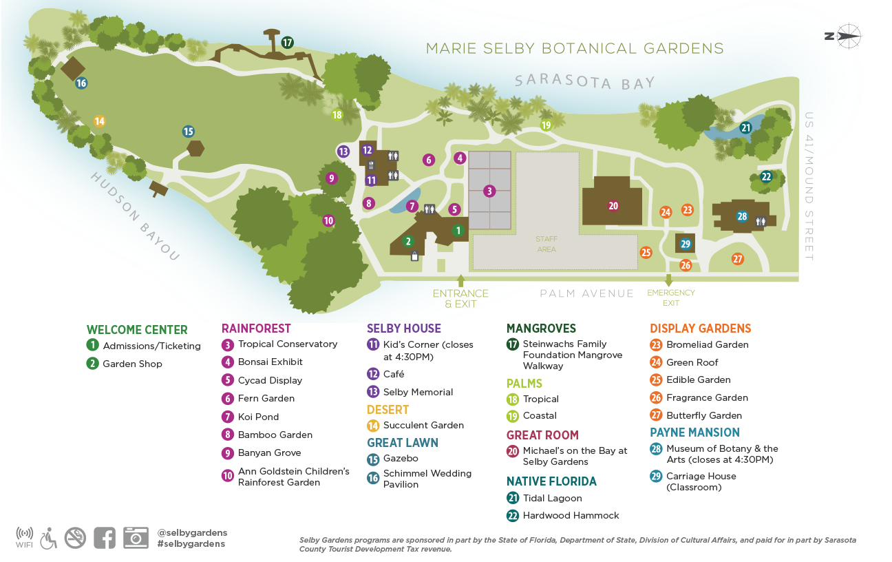 Selby Gardens Downtown Sarasota Campus Map